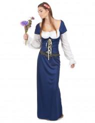 Disfraz de bávara azul para mujer