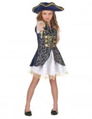 Disfraz de pirata para niña azul