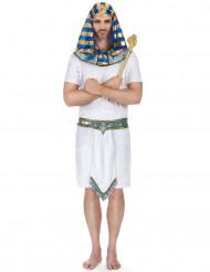 Disfraz de faraón azul dorado para hombre