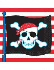 Servilletas estilo pirata calavera