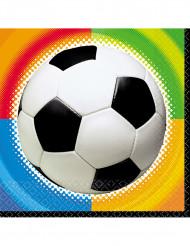 Servilletas estilo fútbol