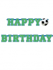 Pancarta Happy birthday estilo fútbol