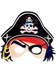 Máscara pirata de cartón
