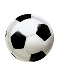 Miniplatos en forma de balón de fútbol