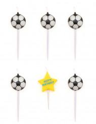 Velas de cumpleaños en forma de balones de fútbol