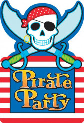 Invitaciones estilo pirata calavera