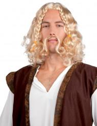 Peluca de vikingo con bigote