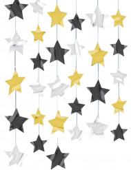 Cadenas de estrellas decorativas para colgar
