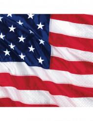 Miniservilletas con la bandera de EE.UU.