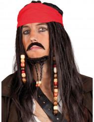 Peluca pirata para hombre