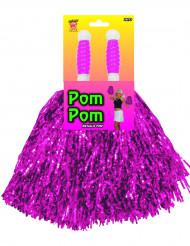 Pompón metálico violeta de animadora