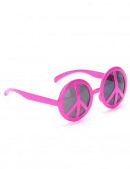 Gafas hippies rosas para adulto