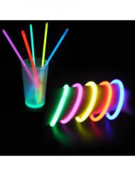 100 pulseras fluorescentes