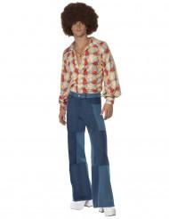 Disfraz de hippie pantalón patchwork para hombre