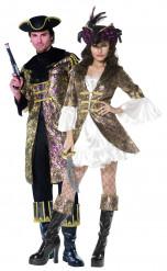 Disfraz de pareja de capitanes piratas