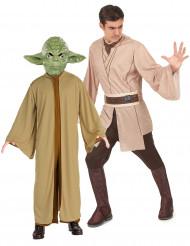 Disfraz de pareja de maestro Yoda y jedi de Star Wars™