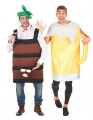 Disfraz de pareja de barril y jarra