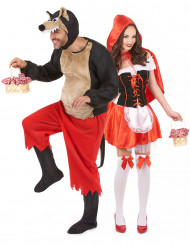 Disfraz de pareja de Caperucita Roja y Lobo Feroz