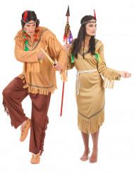 Disfraz de pareja de indios pálidos