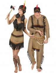 Disfraz de pareja de indios