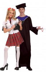 Disfraz de pareja de graduados