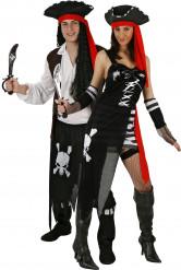 Disfraz de pareja de piratas corsarios