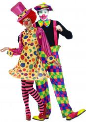 Disfraz de pareja de payasos