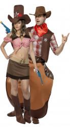 Disfraz de pareja de vaquero y vaquera