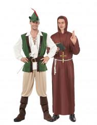 Disfraz de pareja de Robin y monje del bosque