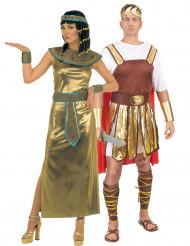 Disfraz de pareja mítica de Cleopatra y emperador romano