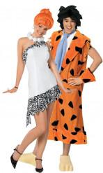 Disfraz de pareja de Vilma y Pedro Picapiedra™