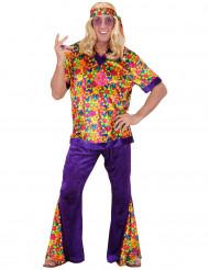 Disfraz de hippie terciopelo para hombre