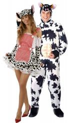 Disfraz de pareja de vacas