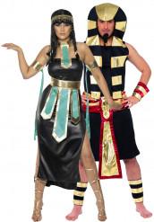Disfraz de pareja de faraones egipcios