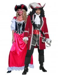 Disfraz de pareja de piratas auténticos