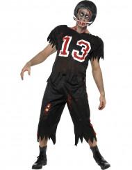 Disfraz de jugador de fútbol americano zombie para hombre ideal para Halloween