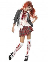 Disfraz de colegiala zombie ideal para Halloween