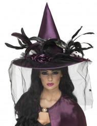 Sombrero violeta de bruja