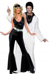 Disfraz de pareja estilo música disco