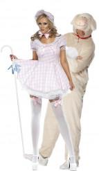 Disfraz de pareja de pastora y su oveja