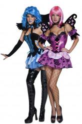 Disfraz de pareja de ángel y elfa nocturna, ideal para Halloween