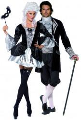 Disfraz de pareja de vampiros barrocos, ideal para Halloween