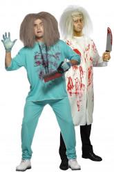 Disfraz de pareja de médicos locos