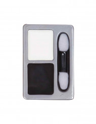 Maquillaje base blanco y negro ideal para Halloween