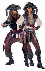 Disfraz de pareja de piratas de lujo