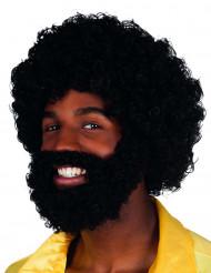 Peluca Mambo con barba y bigote para adulto