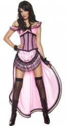 Disfraz de bailarina de saloon sexy para mujer
