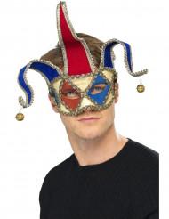 Máscara de bufón arlequín veneciano para adulto