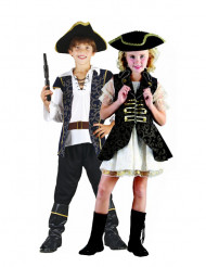 Disfraces infantiles de pareja de piratas