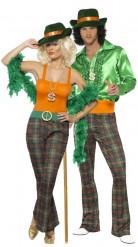 Disfraz de pareja de lady y gentleman estilo disco